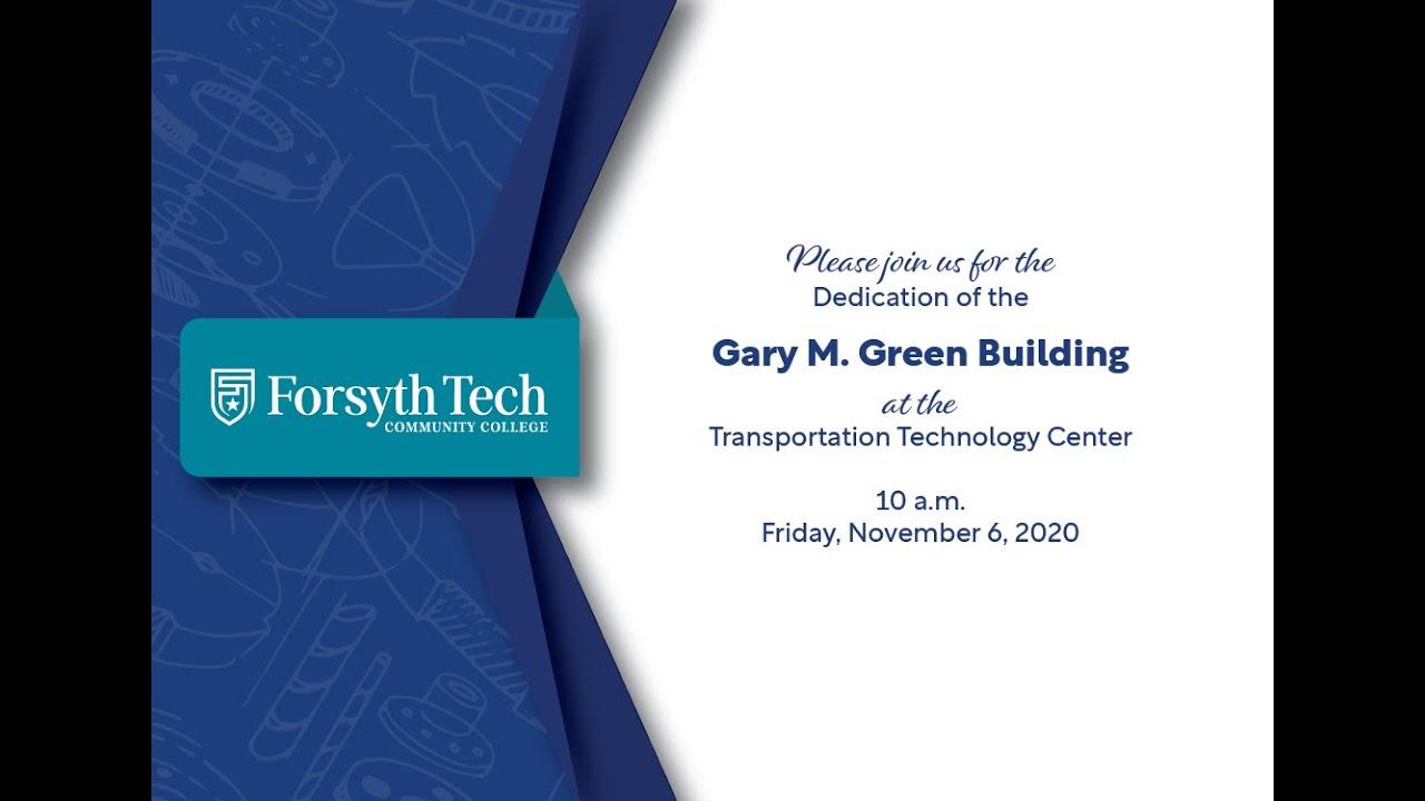 Forsyth Tech Names Transportation Building For Former President Gary Green Education Journalnow Com