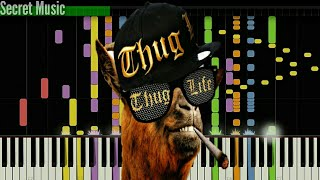 Impossible piano remix of thug life song still dretags :thug songs top compilation animal
