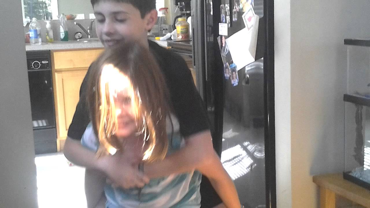 Little Sister Carries Big Brother