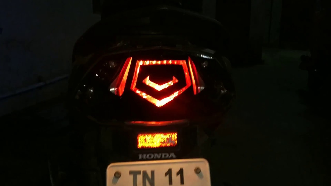Honda dio modified led tail light stickering wrapped