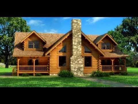 Casas de madera maciza modelo en 3d youtube - Casas de madera bonitas ...