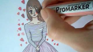 How to draw easy Valentines manga