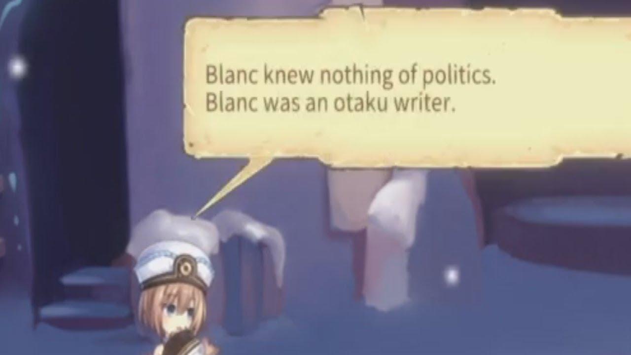 BLANC WAS AN OTAKU WRITER BLANC KNOWS NOTHING OF POLITICS