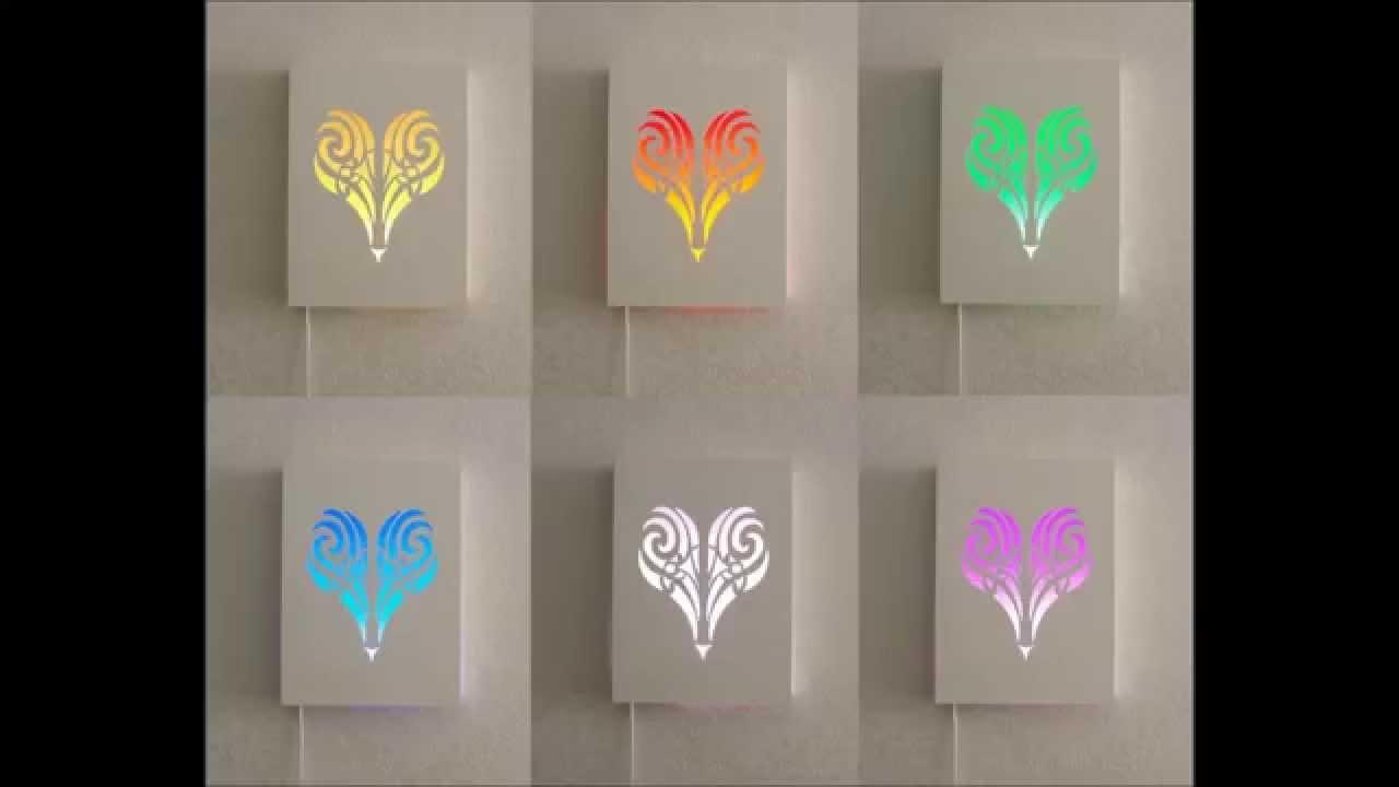 Hart Schilderij/ lamp met led verlichting nieuw! Hoahoa - YouTube