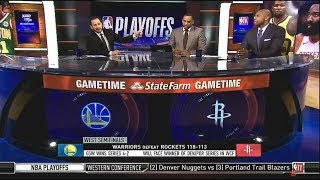 [ SPOTLIGHT ] Warriors def. Rockets 118-113 to advance Conf Finals (Harden Cry!!) | NBA GameTIme