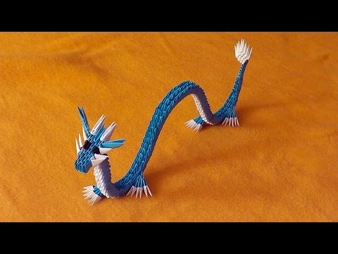 3D origami Chinese dragon tutorial Gyarados (video with a surprise ending)