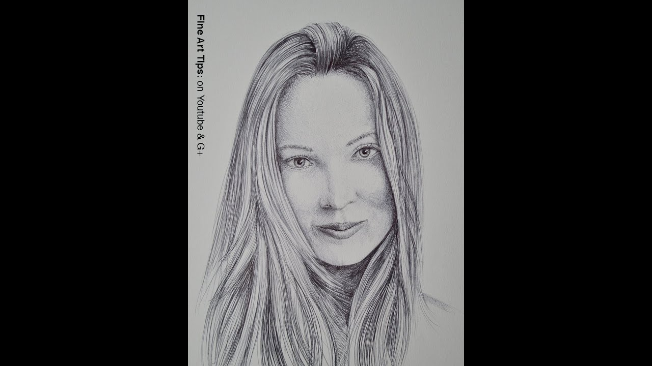 How to draw a portrait with ball point pen youtube how to draw a portrait with ball point pen ccuart Image collections