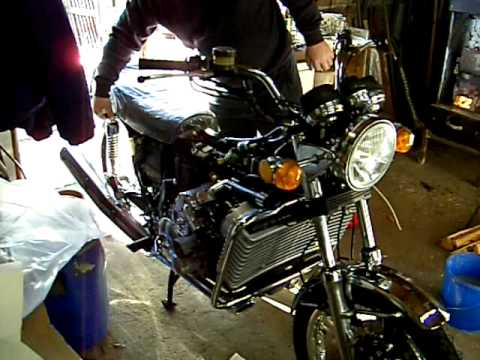 Suzuki RE 5 A Wankel Motor Rotary engine first start RE5 A