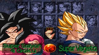 Dragon Ball GT: Final Bout Opening and All Characters (PSX)