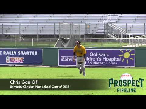 Chris Gau Prospect Video, OF, University Christian High School Class of 2015