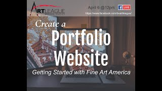 Create a Portfolio Website: Getting Started with Fine Art America