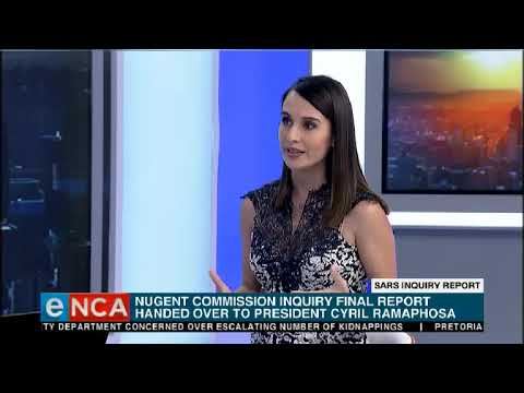 President Cyril Ramaphosa has received the final report of the Nugent Commission into Sars.