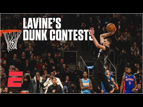 Zach LaVine wins 2015 & 2016 NBA Slam Dunk Contests | NBA Highlights