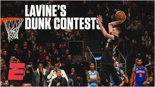 Zach LaVine wins 2015 & 2016 NBA Slam Dunk Contests | NBA Highlights Video