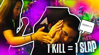1 KILL = 1 SLAP FT MY SISTER! (GONE WRONG)   IF I WIN SHE GETS THE BATTLE PASS FOR FREE!  (Fortnite)