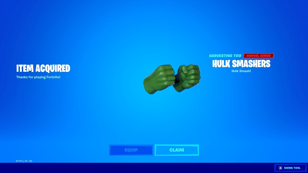 FREE PICKAXE NOW in FORTNITE! (Hulk Smashers)