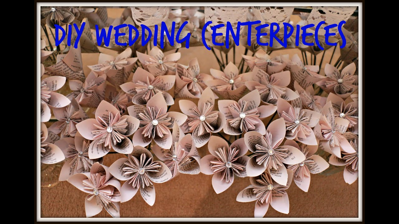 Diy Wedding Centerpieces Origami Kusudama Flowers Youtube