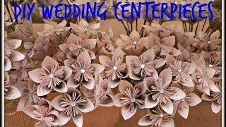 DIY Wedding Centerpieces - Origami Kusudama Flowers