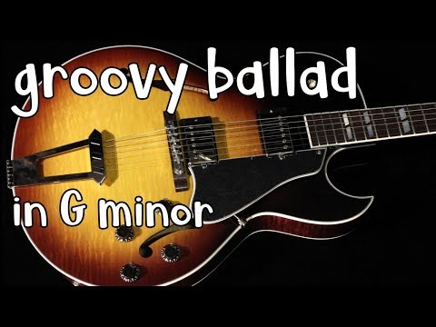 Romantic Groovy Ballad Backing Track In Gm