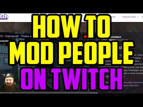 Twitch how to give moderator
