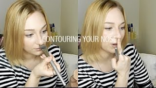 How Contour Nose Slimmer Shorter Less Prominent