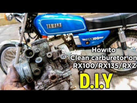How To Clean Carburetor on Yamaha RX 100, RX 135 and RXZ