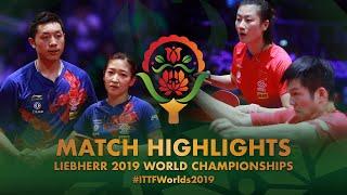 Xu Xin / Liu Shiwen vs Fan Zhendong / Ding Ning  | Semifinal | WTTC-2019