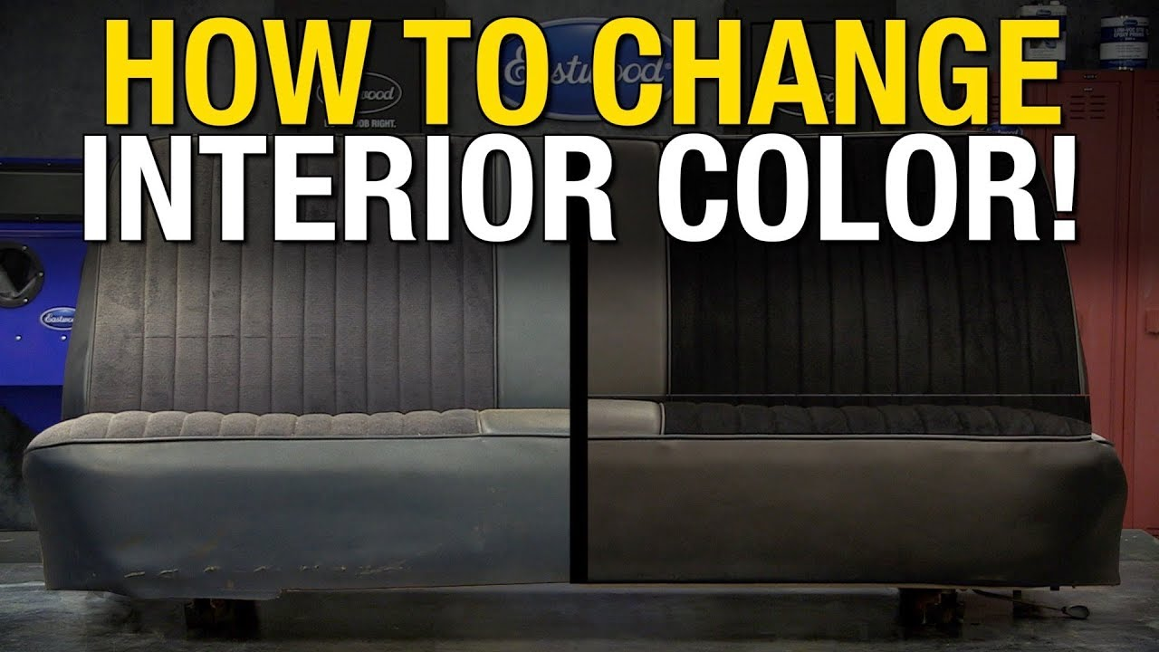 Colorbond Change Interior Color On Leather Vinyl Fabric Metal
