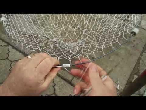 Как вязать рыболовную вершу
