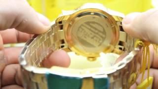 Video Relógio Invicta Mens Pro Diver Scuba Swiss Chronograph Champagne Dial 18k Gold Plated Watch 80068 download MP3, 3GP, MP4, WEBM, AVI, FLV April 2018