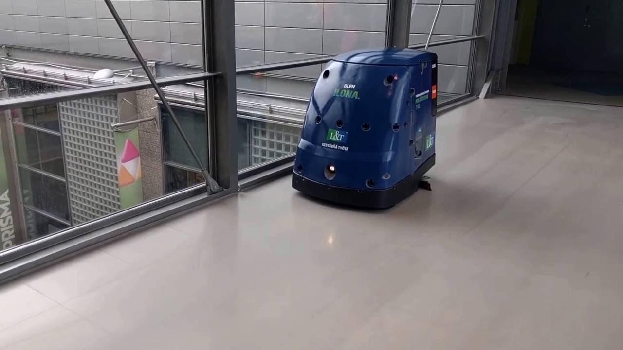 ILONA The Industrial Cleaning Robot Ilona teollisuussiivousrobotti  YouTube