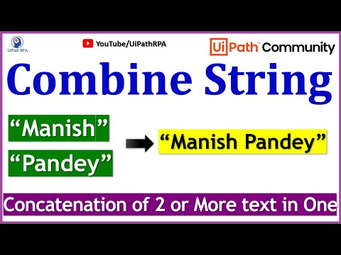 UiPath-Combine String with Variable|UiPath RPA Tutorial in Hindi