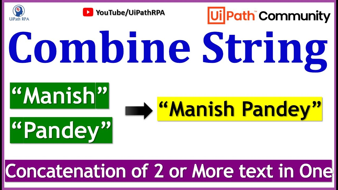 UiPath-Combine String with Variable UiPath RPA Tutorial in Hindi