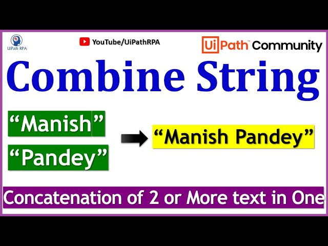 UiPath Combine String with Variable|UiPath RPA Tutorial in Hindi