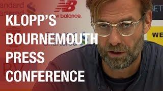 Jürgen Klopp's pre-Bournemouth press conference | Lallana return and Mignolet starts
