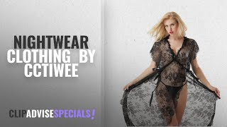 Top 10 Cctiwee Nightwear Clothing [2018]: Cctiwee Womens Floral Lace Lingerie Long Cheongsam Side