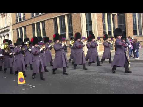 Band of the Coldstream Guards, Windsor, Changing the Guard, Scots Guards, March 6, 2018
