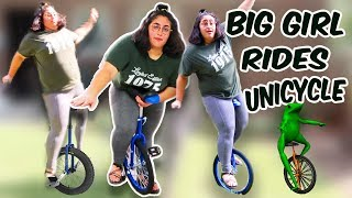 my first time riding a unicycle and this is what happened...