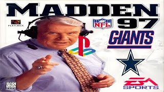 Madden NFL 97 PlayStation - New York Giants @ Dallas Cowboys