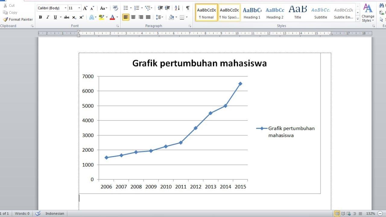 Cara Mudah Membuat Grafik Sederhana Secara Otomatis Dengan Ms Word Youtube