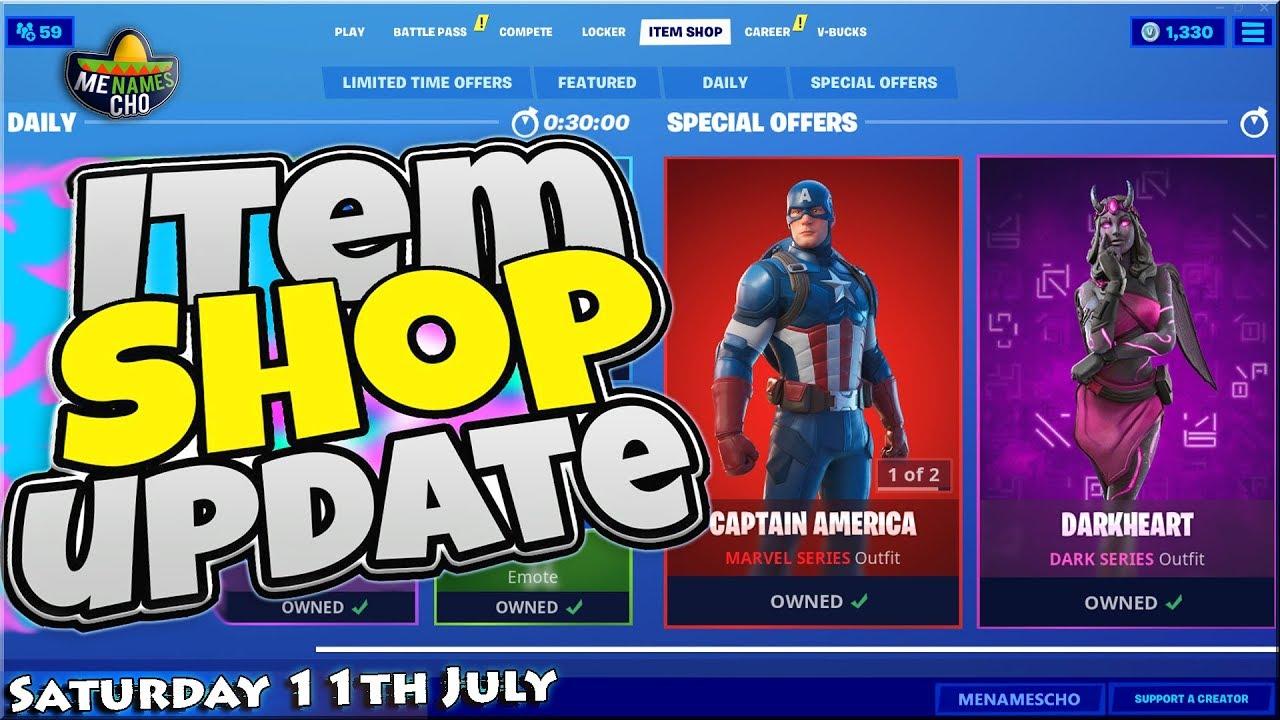 💥FORTNITE ITEM SHOP UPDATE 🔵 Countdown ⚡ LIVE - 11th July 2020 (Fortnite Battle Royale)
