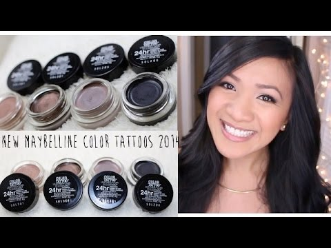 Beauty Snapshot: New Maybelline Color Tattoos Leather Collection 2014