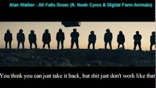Download Lagu Alan Walker - All Falls Down (ft. Noah Cyrus & Digital Farm Animals) -Lyrics Mp3