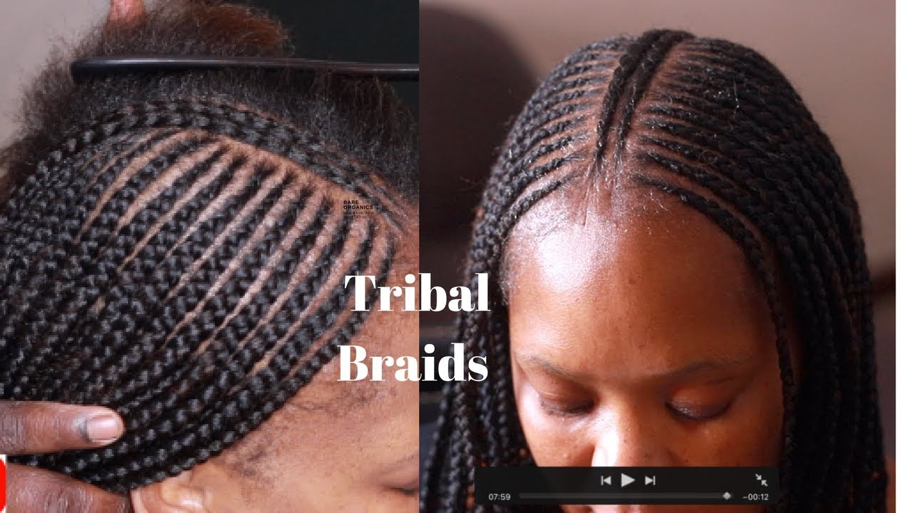 Tribal Braids Tutorial How To Do Fulani Braids Youtube