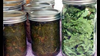 Canning Collard Green Southern Style