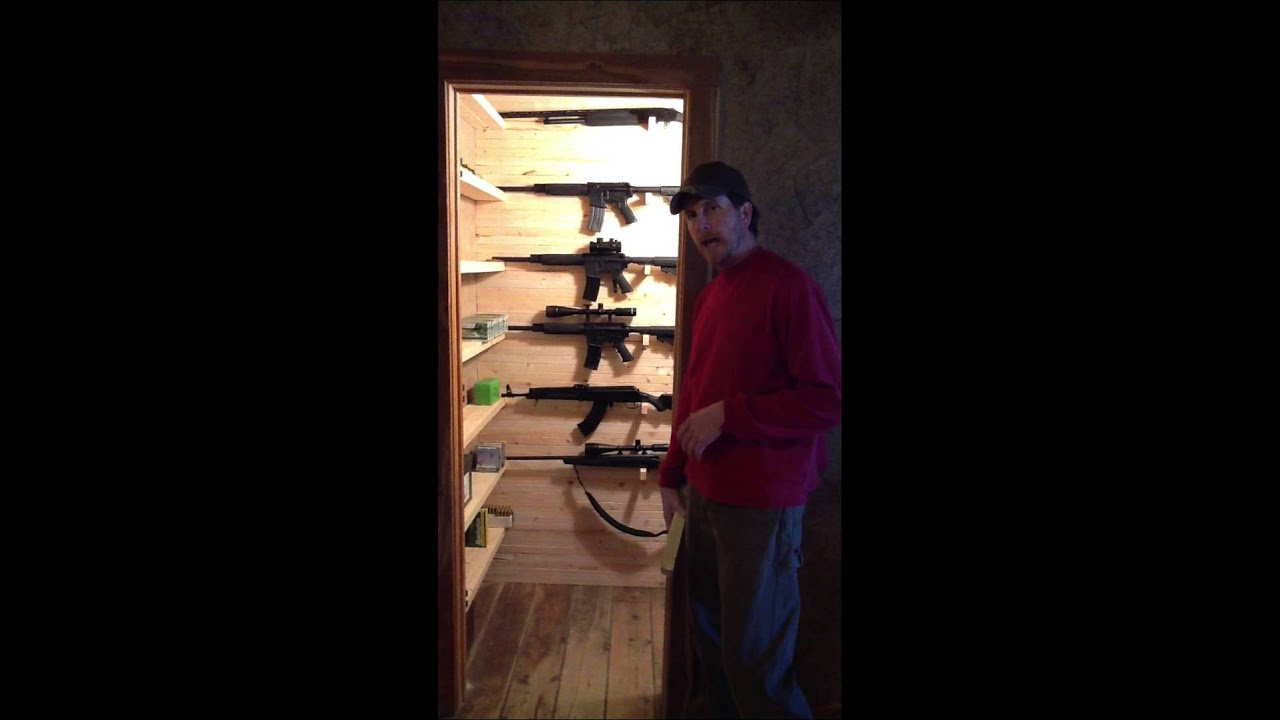 Build a custom gun closet part 3 youtube for How to build a gun safe room