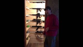 Build A Custom Gun Closet. Part 3
