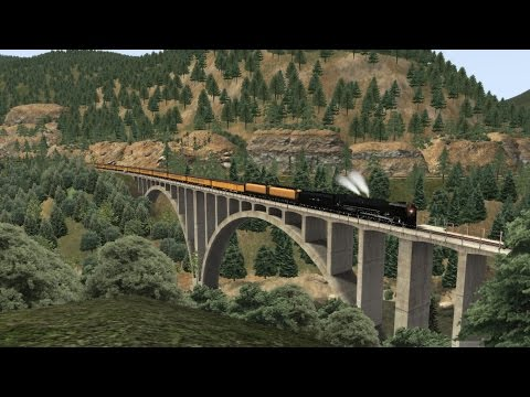 Train Simulator 2016 HD: Union Pacific FEF-3 844 Feather River Canyon Excursion (Oroville to Keddie)
