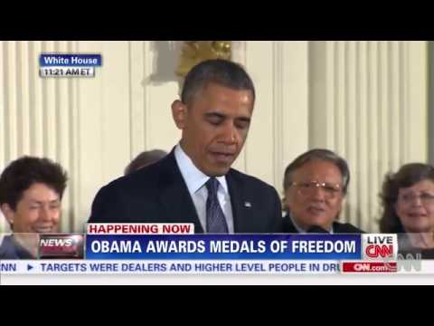 Obama Says What the heck was I thinking   Medal of Freedom Ceremony