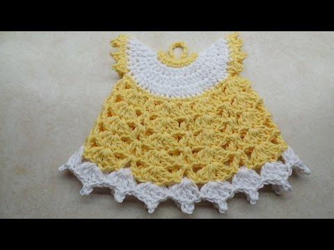 CROCHET How to #Crochet Vintage Style Potholder Dress #TUTORIAL #218 LEARN CROCHET DYI